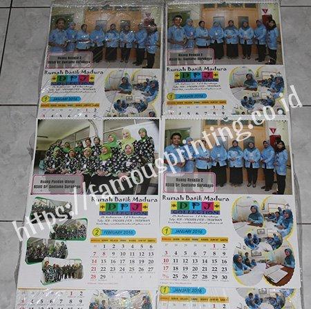 kalender dinding rumah batik