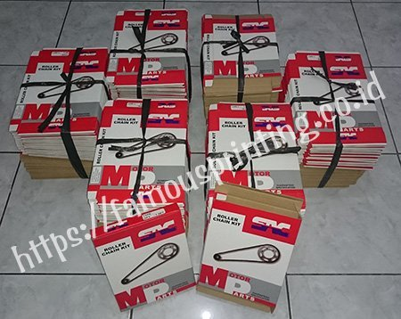 cetak packaging corrugated rantai motor