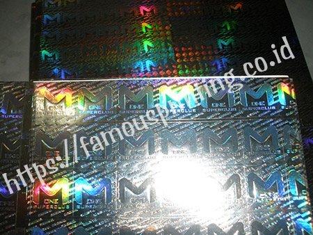 stiker hologram m-one